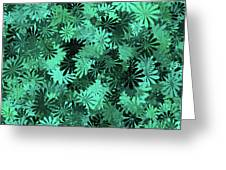 Green Floral Pattern Greeting Card