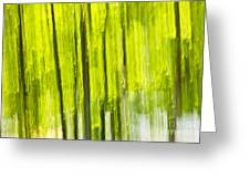 Green Forest Abstract Greeting Card by Elena Elisseeva