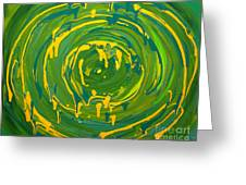Green Forest Swirl Greeting Card
