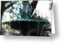 Green Fountain Greeting Card