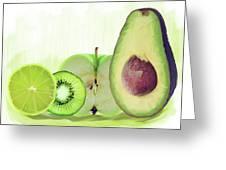 Green Fruits Watercolor Greeting Card