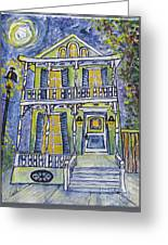 Green Garden District Home Greeting Card