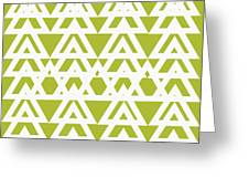 Green Graphic Diamond Pattern Greeting Card