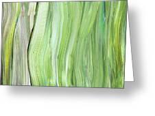 Green Gray Organic Abstract Art For Interior Decor Vi Greeting Card
