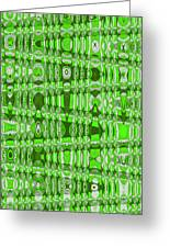 Green Heavy Screen Abstract Greeting Card