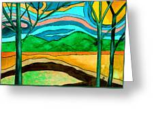 Green Hill Country Greeting Card