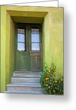 Green House Greeting Card by Gabriela Insuratelu