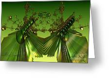 Green Insects  Greeting Card