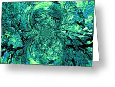 Green Irrevelance Greeting Card