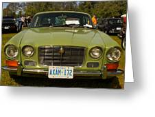 Green Jag Greeting Card