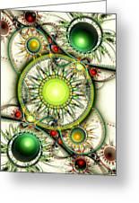 Green Jewelry Greeting Card