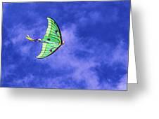 Green Kite Greeting Card