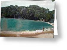 Green Lagoon Greeting Card