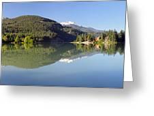 Green Lake Whistler Panorama Greeting Card