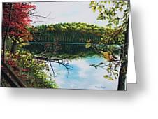Green Lakes Greeting Card