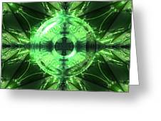Green Leaf Mild Abstract Greeting Card