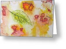 Green Leaf Of Fall Greeting Card