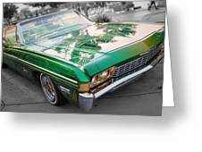 Green Low Rider Greeting Card