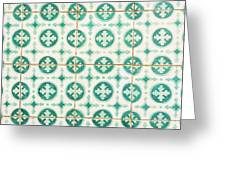 Green Lucky Charm Lisbon Tiles Greeting Card
