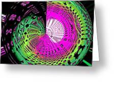 Green-magic-wheel Greeting Card