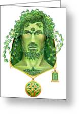 Ivy Green Man Greeting Card
