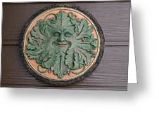 Green Man Greeting Card