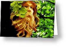 Green Man Greeting Card by Jen White