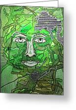 Green Man Greeting Card