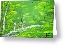 Green Meadows Greeting Card