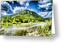 Green Mountain And Brook Greeting Card