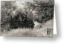 Green Mountain Cabin Greeting Card