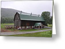 Green Mountain National Forest Barn Greeting Card