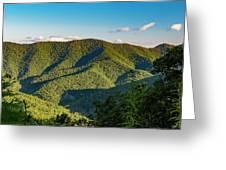 Green Mountainside Greeting Card
