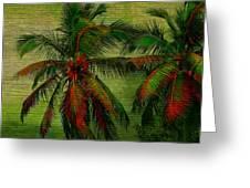 Green Palms Greeting Card