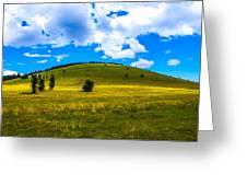 Green Peak Yellow Greeting Card