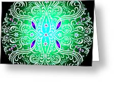 Green Piece Mandala Greeting Card