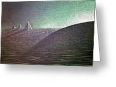 Green Pyramid B Greeting Card