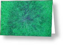 Green Radation With Violet  Greeting Card