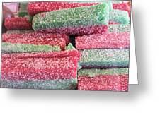 Green Red Sugary Sweet Greeting Card