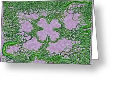 Green Ribbon Shamrock Greeting Card