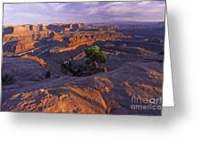 Green River Canyon Sunset Greeting Card