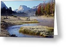 Green River, Frosty Morning Greeting Card