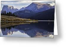 Green River Lake Fly-fisherman Greeting Card