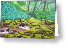 Green Rocks Greeting Card
