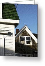 Green Roof Stonington Deer Isle Maine Coast Greeting Card