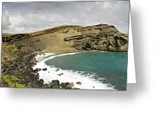 Green Sand Beach On The Big Island Hawaii Greeting Card