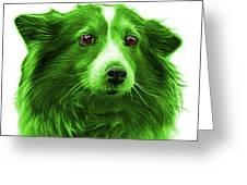 Green Shetland Sheepdog Dog Art 9973 - Wb Greeting Card