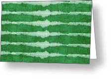 Green Shibori 3- Art By Linda Woods Greeting Card