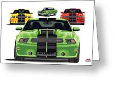 Green Stang Greeting Card
