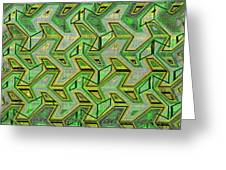 Green Steps Abstract Greeting Card